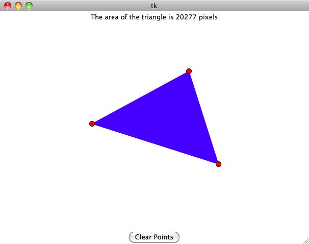 Tkinter Triangle-Area GUI